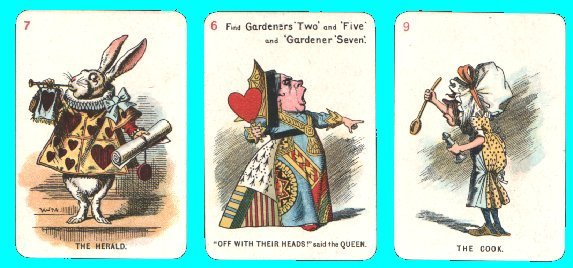 collectible vintage cards game alice in wonderland [2] 3684 p